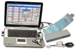 Today, most polygraph exams are administered with digital equipment like this.